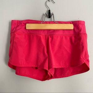 Lululemon hot pink speed up shorts size 6